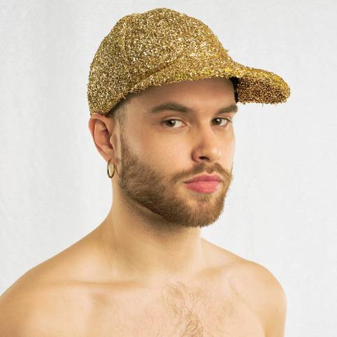 GOLD TINSEL CAP