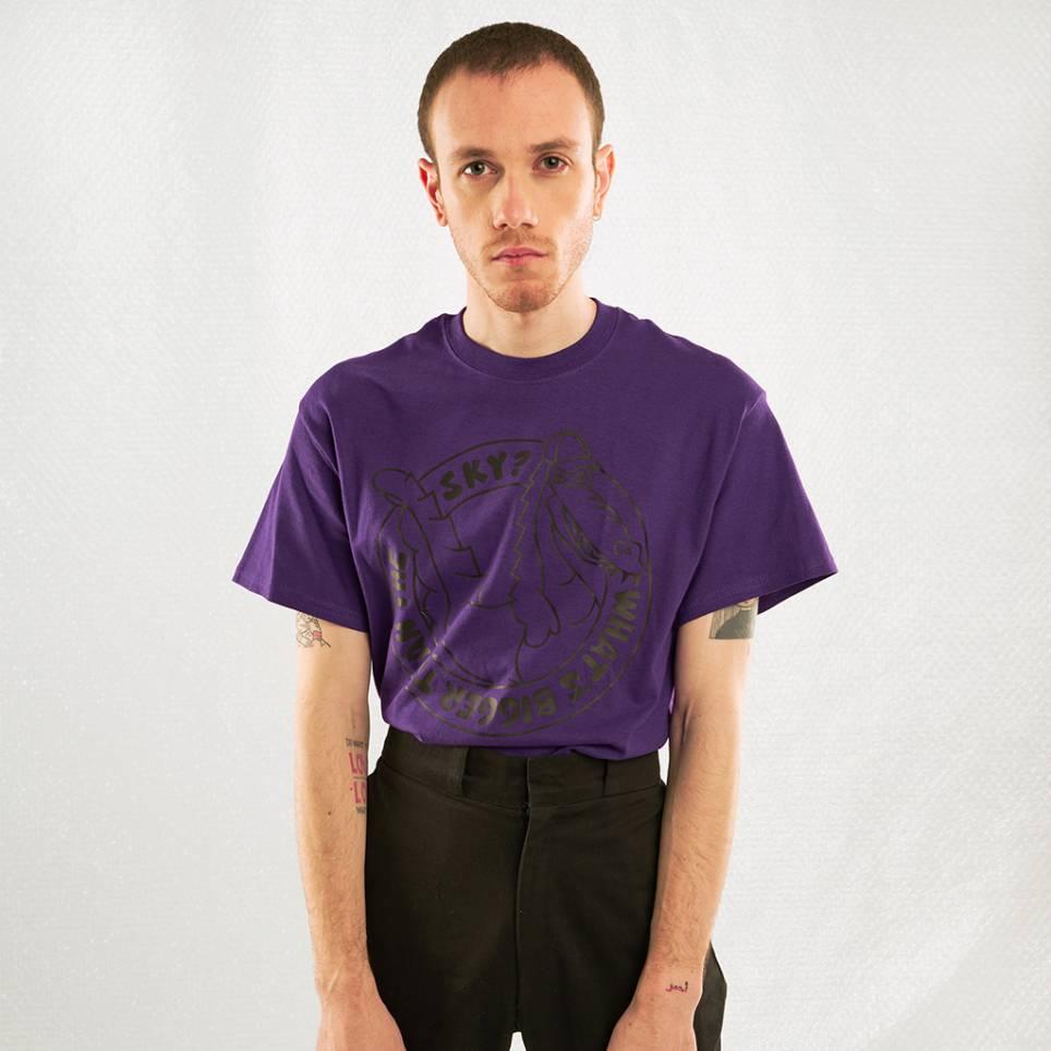 Crocodile T-shirt Purple