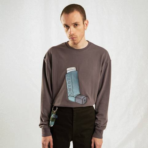 GREY INHALER SWEATSHIRT