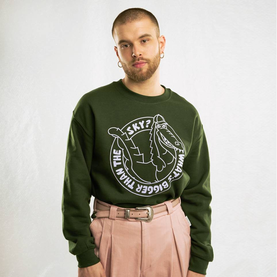 CROCODILE GREEN SWEATSHIRT